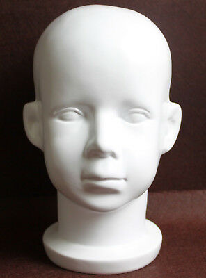 White Fiberglass Baby Child Children Mannequin Head For Wighat And Sunglasses