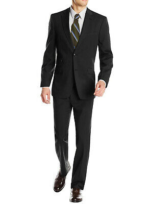 DTI GV Executive Italian Mens Two Button Wool Suit Ticket Pocket Jacket 2 Piece