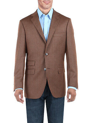 DTI BB Signature Mens Dress Suit Jacket Two Button Birdseye Modern Fit (Mod Suit Jacket)