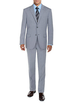 DTI BB Signature Mens Suit 2 Button Modern Fit Side Vent Jacket Flat Front Pant