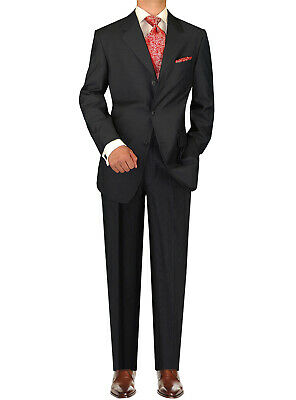 DTI GV Executive Italian Mens 3 Button 2 Piece Wool Suits Set Jacket Trousers Wool 3 Button Italian