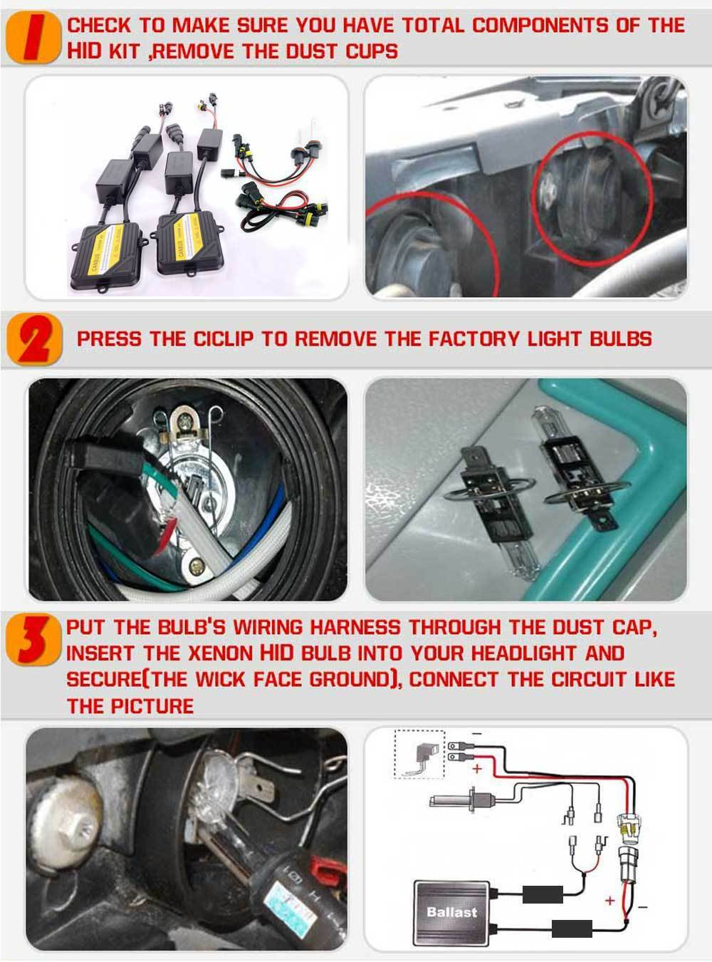 H7 55w Ac Canbus Hid Xenon Conversion Kit Headlight 6k 8k For Mercedes Wiring Harness Kits Benz E350 12 4099 Of See More