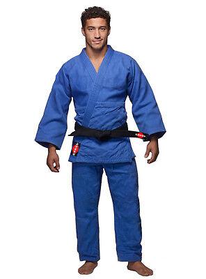 KANKU Bjj gi, Judo Uniform, Single Weave 450 gram White and Blue  Jiu (Judo Gi Uniform)