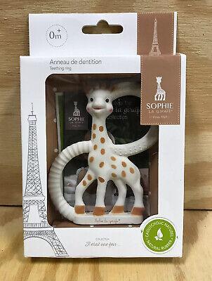 Vulli Sophie La Girafe Giraffe Pure Teething Ring Teether NEW IN BOX