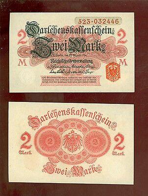 2 Reichsmark 1914 Ro.52b UNC./ kassenfrisch