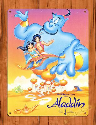 "TIN SIGN ""Aladdin Genie"" Disney Cartoon Wall Poster"