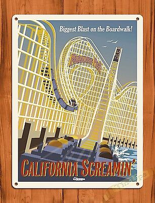 "TIN SIGN Walt Disney  ""California Screaming"" Vintage Ride Art Poster"