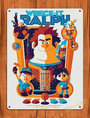 "TIN SIGN ""Wreck It Ralph"" Disney Ride Art Painting Movie Poster"