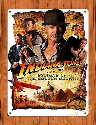 TIN SIGN Disney's Indiana Jones Movie Ride Art Poster