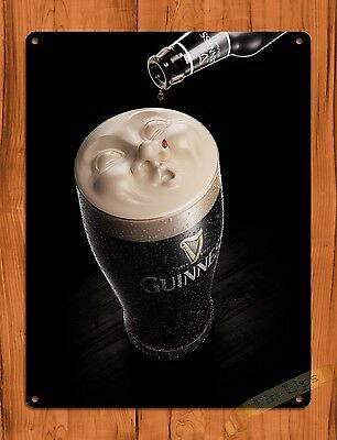 "TIN SIGN ""Guiness Drop"" Advertisement Beer Wall Decor"