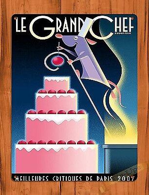 "TIN SIGN Disney Movie Ratatouille ""Le Grande Chef"" Pixar Remy Decor"