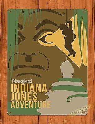 TIN SIGN Disney's Indiana Jones Adventure Disneyland Ride Art Poster
