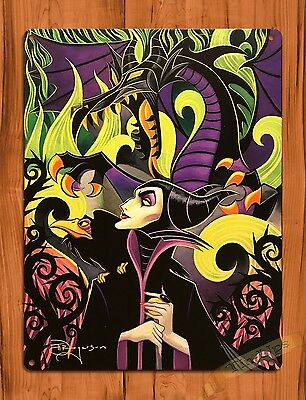 "TIN SIGN ""Maleficent Sleeping Beauty"" Disney  Art Ride Movie Poster"