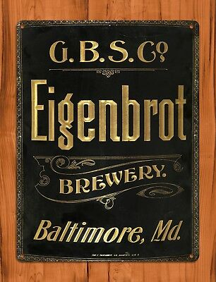 "TIN SIGN ""Eigenbrot Brewery"" Baltimore Bar Beer Wall Decor"