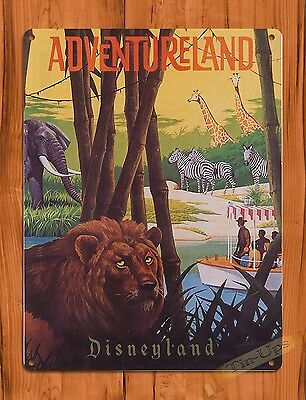 TIN SIGN Disney's Jungle Cruise Adventureland Attraction Ride Poster
