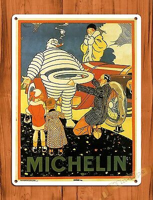 "TIN SIGN ""Michelin"" Michelin Man Vintage Garage Tires Decor Roosevelt"