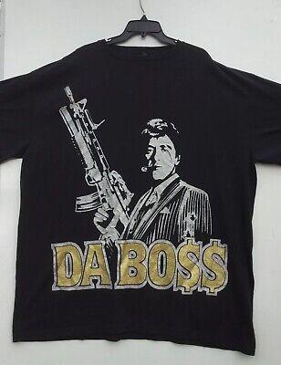 Vintage Scarface Shirt Black Clothing Co. Tony Montana Da Boss Mens 3XL