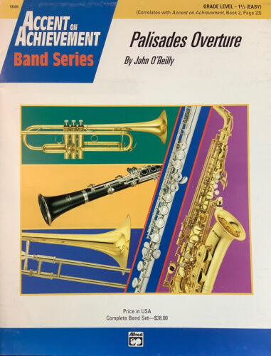 PALISADES OVERTURE For Grade 1.5 Concert Band, Score And Parts. 38.00. - $5.70