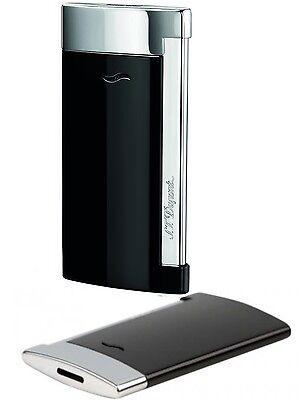 S.T. Dupont Slim 7 schwarz Feuerzeug mit Flat-Jetflamme Neu - 027700