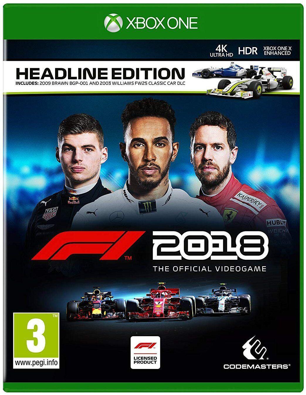F1 Forumla 1 2018 Headline Edition | XBox One Racing | NEU & OVP | Blitzversand