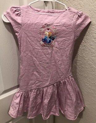 Youth Girls Walt Disney Store Frozen Elsa & Ana Pink Zip Up Dress Size 5/6](Ana Frozen Costume)
