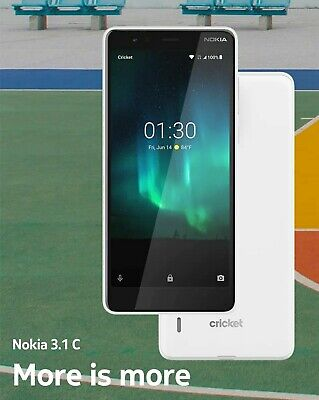 Nokia 3.1 C  - 32GB - Snow White (Cricket Wireless) (Single SIM)
