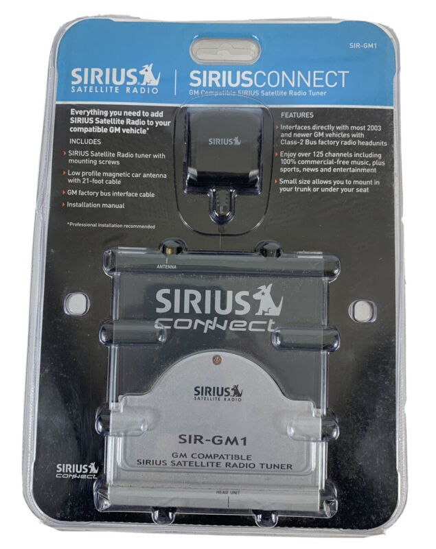 SiriusConnect SIR-GM1 Sirius Tuner Satellite Radio For GM Vehicle *Open Package*