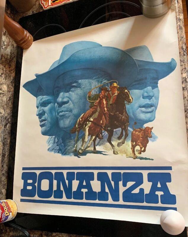 NBC 1966 TV posters set 4 BONANZA GET SMART I SPY MAN FROM UNCLE JACK DAVIS BAMA