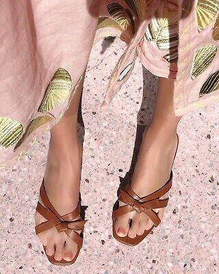 Loeffler randall Eveline Sandal Slides 8.5 Timber Brown $225