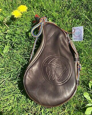 Leather Bota Bag Spanis Water Wine Skins Camping Hiking Canteen cluster of Grape