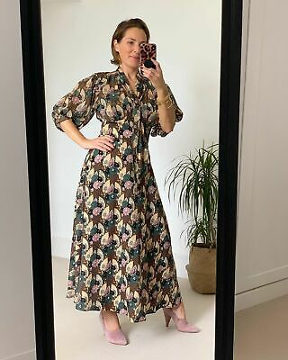 Topshop IDOL Art Deco Empire Lily Midi Dress - Multi - UK14/EU42/US10 NEW