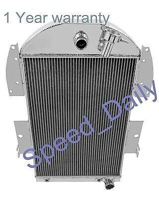 ALL ALUMINUM RADIATOR FIT 34 35 1936 CHEVY Pickup TrucksChevy V8 3 CORES