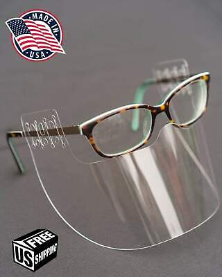 Invisishield 2 Pack Face Shield Glasses Cover Washable Mask Safety Clear Usa