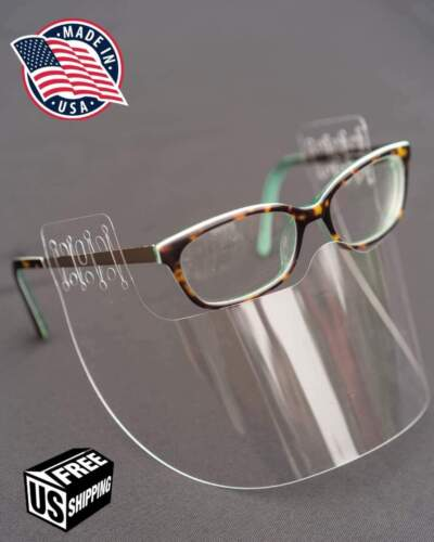 InvisiSHIELD (2 PACK)  Face Shield GLASSES Cover Washable Mask Safety Clear USA