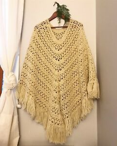Hand made poncho in excellent condition