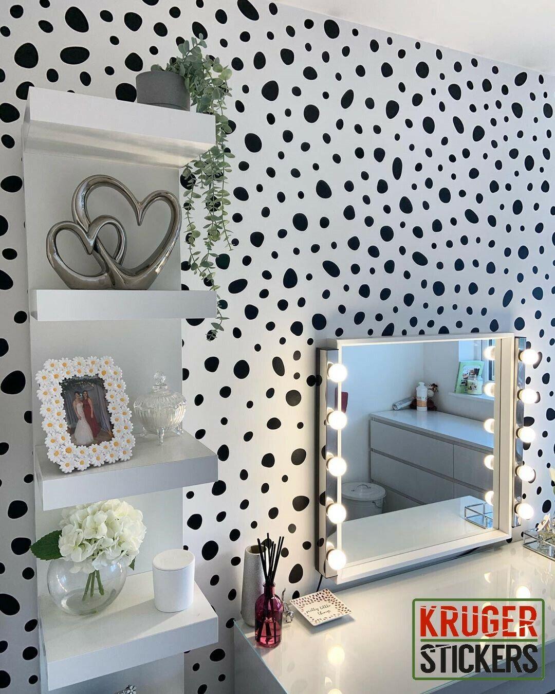 Home Decoration - Dalmation Spots Dot Wall Stickers Decal Child Vinyl Art Decor Nursery Home 91