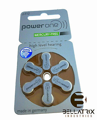 60 Power One Hearing Aid Batteries  Size 312  Newest Version Exp 2021