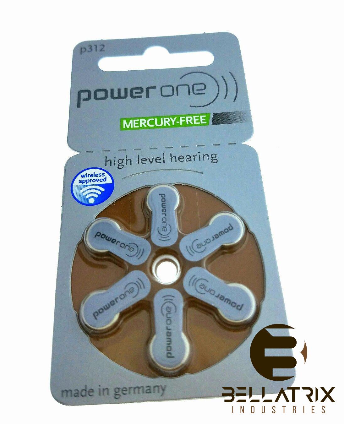 Power One Size 675 Zinc Air Hearing Aid Batteries