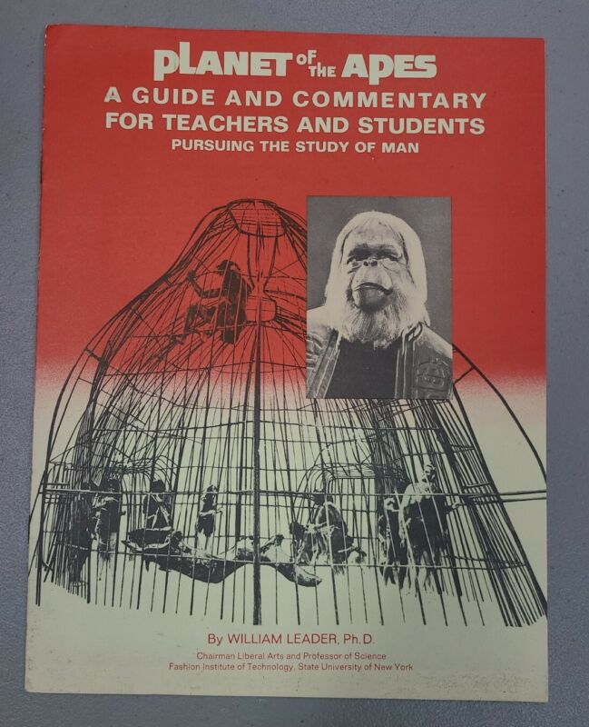 1967 Planet of the Apes Guide & Commentary For Teachers Students Study of Man B4