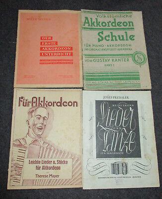 Lieder/Stücke/Tänze für Akkordeon-4 Stck.-Willy Richter Döbeln