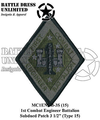 1st Combat Engineer Battalion MCCU Combat Subdued Patch-USMC Marine Corps Eng Bn ()