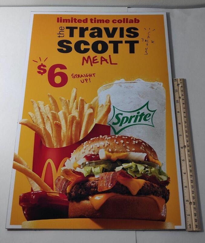 Travis scott McDonalds Limited Edition vinyl poster Cactus Jack 13x19