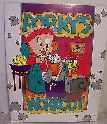 "PORKY PIG ""Porky's Workoout"" 1992 Vintage Poster  22""x 28"" New in shrinkwrap"