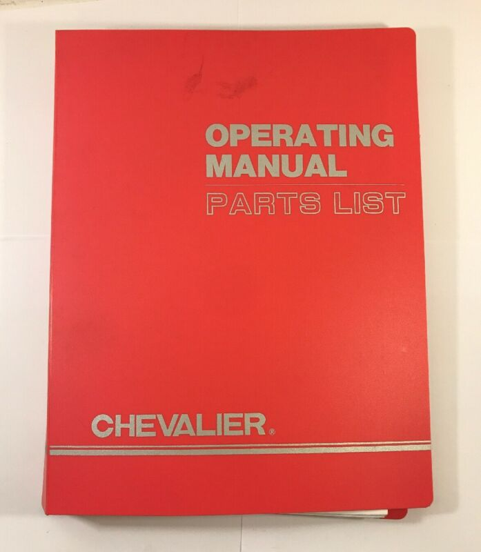Chevalier Operating Manual 20ADII