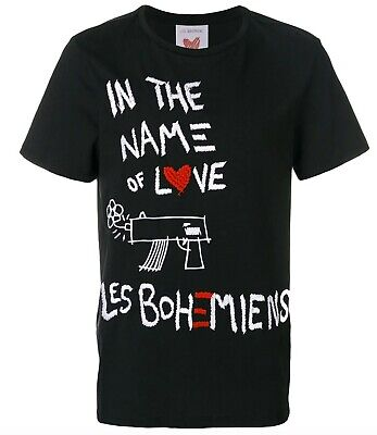 Les Bohemiens Logo Motif Graphic Tee Designer T-Shirt Men's Size XL New w/o Tags