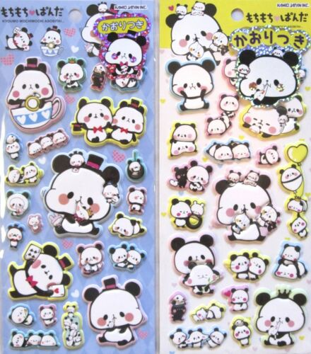 Kamio Kyoumo Mochimochi Asobitai Panda Puffy Sticker Sheet (Your Choice)