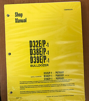 Komatsu D32ep-1 D38ep-1 D39ep-1 Dozer Bulldozer Service Shop Repair Manual