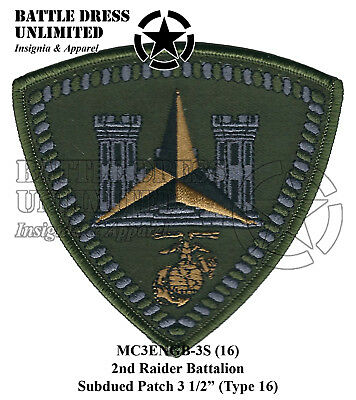 3rd Combat Engineer Battalion MCCU Combat Subdued Patch-USMC Marine Corps Eng Bn ()