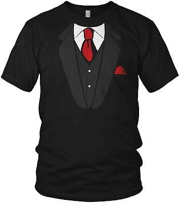 Falscher Anzug mit Krawatte - T-Shirt Junggesellenabschied JGA - T Shirt Mit Anzug