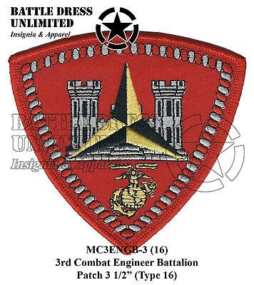 3rd Combat Engineer Battalion Patch (USMC Marine Corps Eng Bn) ()